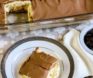 Chocolate Eclair Cake with Glaze