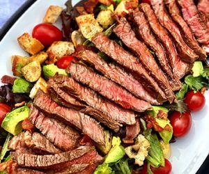 Grilled Fullblood Wagyu Zabuton Steak Salad with Vinaigrette