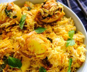 Egg Biryani (Dum Style)