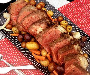 Horseradish and Herb Crusted Fullblood Wagyu Strip Loin Roast