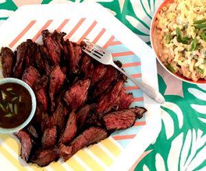 Hawaiian Style Marinated Wagyu Beef Sirloin Bavette Steak