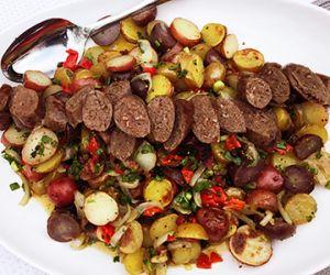 Roasted Potato Salad with Wagyu Bacon & Grilled Wagyu Bratwurst