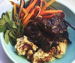 Tart Cherry Braised Wagyu Beef Short Ribs