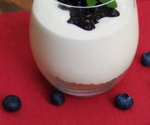 Gluten Free Cheesecake Parfait Recipe with Blueberry Topping