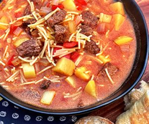 Peruvian Beef and Noodle Stew