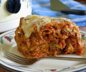 Crock-Pot Baked Ziti with Three Cheeses