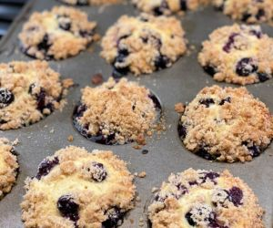 INCREDIBLE Blueberry Streusel Muffins