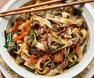 Thai Drunken Noodles with Wagyu Beef