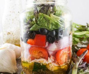 Greek Salad in a Jar