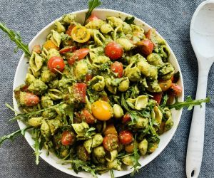 Vegetable Pasta with Pesto - Healthy recipes