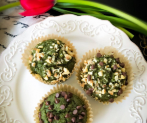 Banana Oats Spinach Muffins – Gluten Free Vegan Recipe