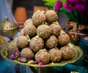 Churma Ladoo – Baked version with Jaggery