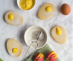 Easter Egg Cookies - Paleo with Lemon Curd | A Meal In Mind