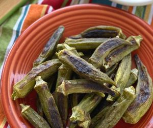 Okra Fries (Air Fryer or Oven) from Frozen!