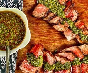 Grilled Wagyu Filet Mignon with Charmoula Sauce